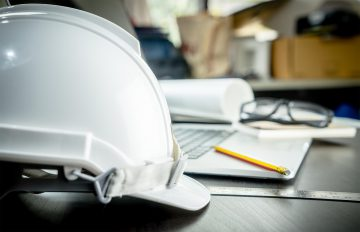 construction-protection-Hat-on-an-Office-table